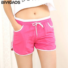 Load image into Gallery viewer, BIVIGAOS New Womens Summer Shorts Quick-Drying Casual Loose Drawstring Short Light Color Mini Shorts For Women Short Fashion