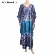 Load image into Gallery viewer, Mr Hunkle Bohemian 2017 New Design Traditional African Clothing Print Dashiki Diamonds African Women's Half Sleeve Maxi Dresses