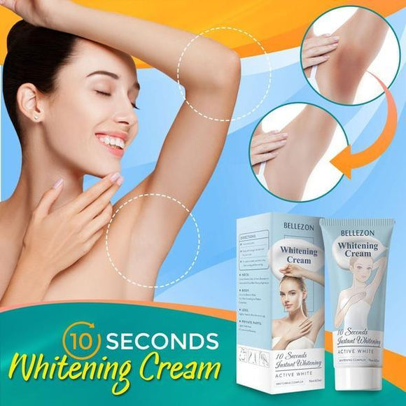 10 Seconds Skin Lightening Cream | Effective for Lightening & Brightening Armpit, Knees, Elbows, Sensitive Area -beauty