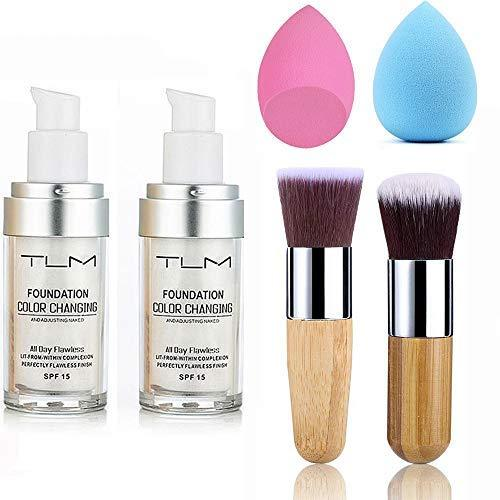 Tlm Foundation Color Changing Full Coverage Natural Color -beauty