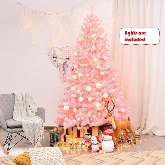 Christmas tree, Pink with Metal Stand and Christmas Decoration -Furniture