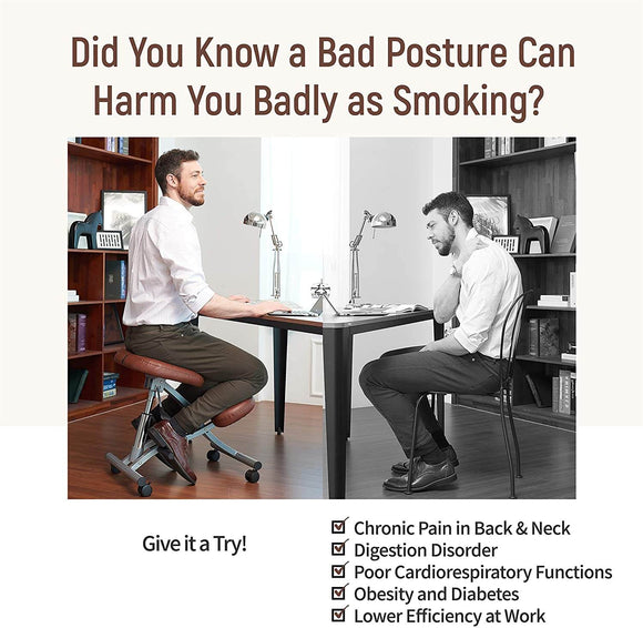 Kneeling Chair, Ergonomic Footrest