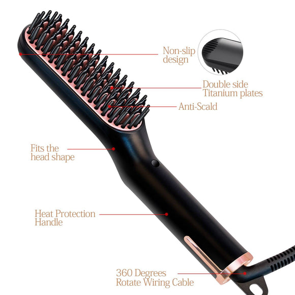 Best Beard Straightener Brush 3 In 1 -beauty