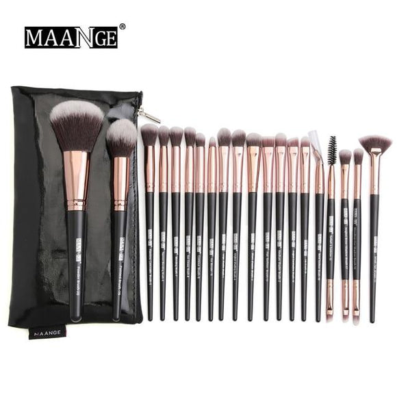 Professional Makeup brushes set with Natural Hair -beauty