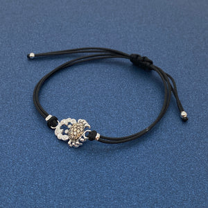 Bracciale Granchio diamanti brown