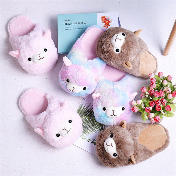 Cartoon Fur Slippers