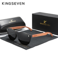 Polarized Natural Bubinga Wooden Sunglasses