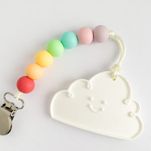 teething clip | ON A CLOUD - sorbet rainbow