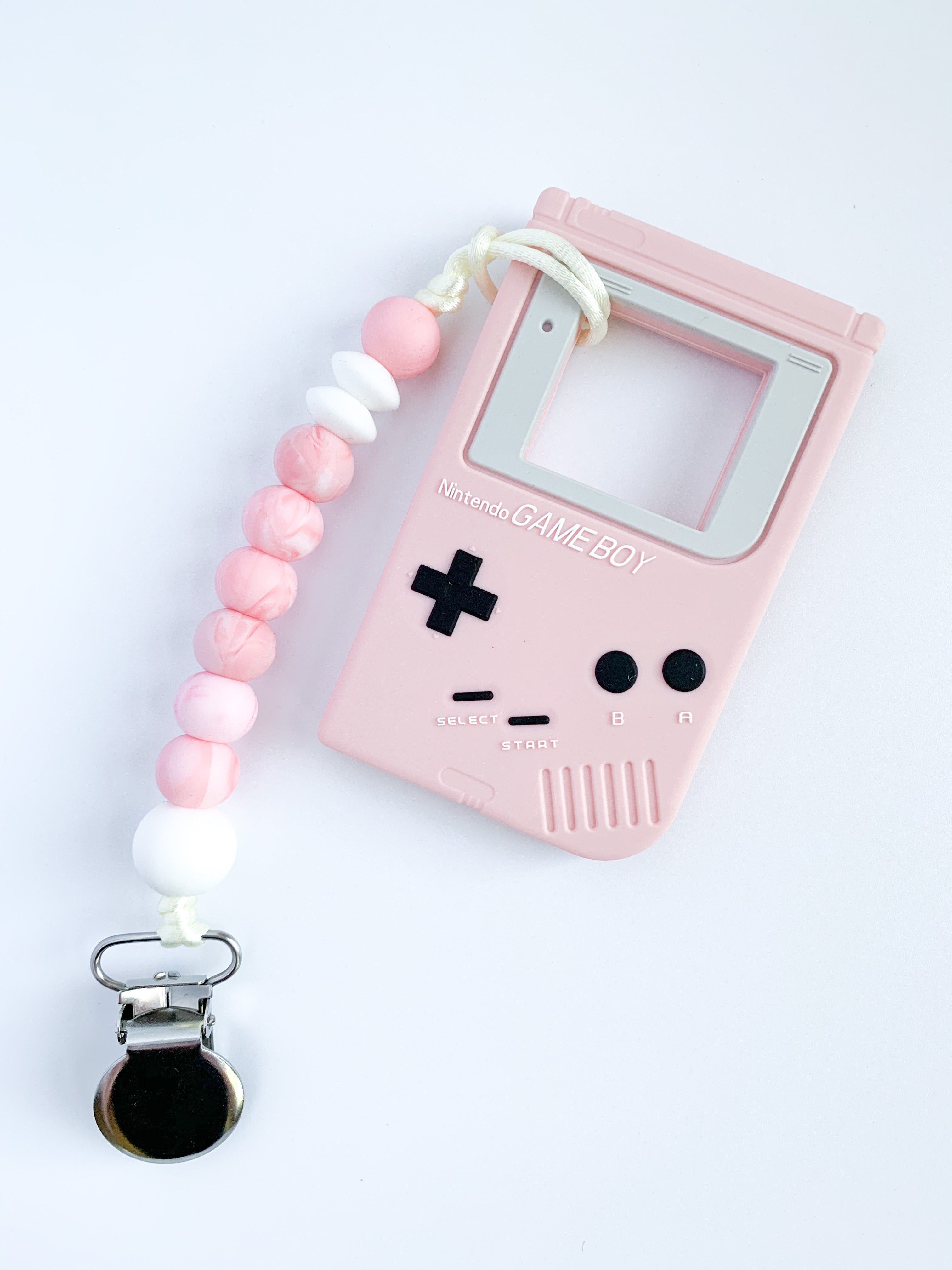 teething clip | GAMER • pink