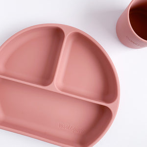 Silicone Divided Plate • dark blush