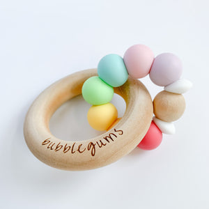teething ring | XL sorbet rainbow