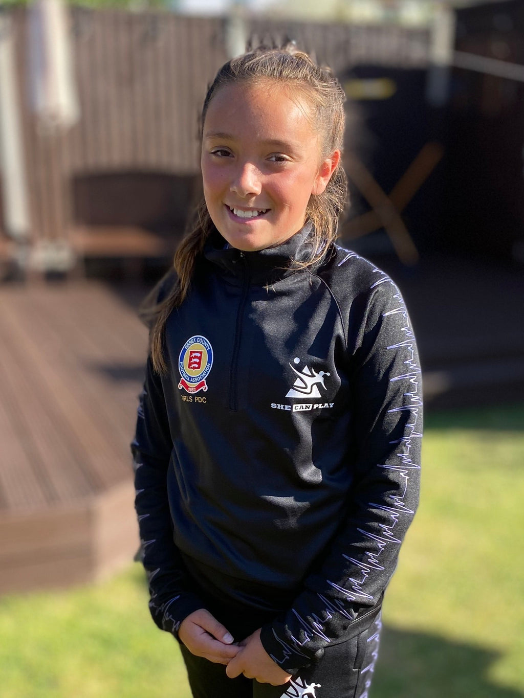 SCP Girls  1/4 Zip Tracksuit & Bottoms - SHE CAN PLAY