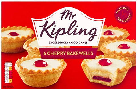Mr. Kipling Cherry Bakewells (6 pack)