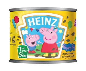 Heinz Peppa Pig pasta shapes in tomato sauce (205g)