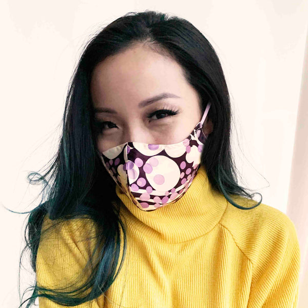 Triple Layer 100% Silk Satin Mask with Filter Pocket - Fairy