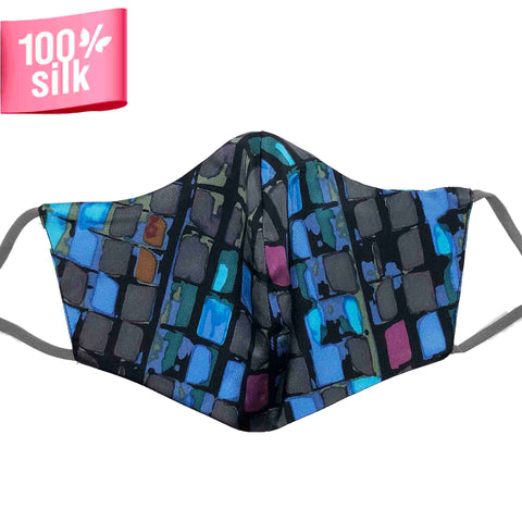 Triple Layer 100% Silk Satin Mask - Bijoux