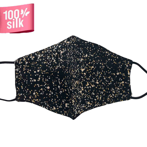 Double Layer 100% Silk Satin Mask - Sparkle