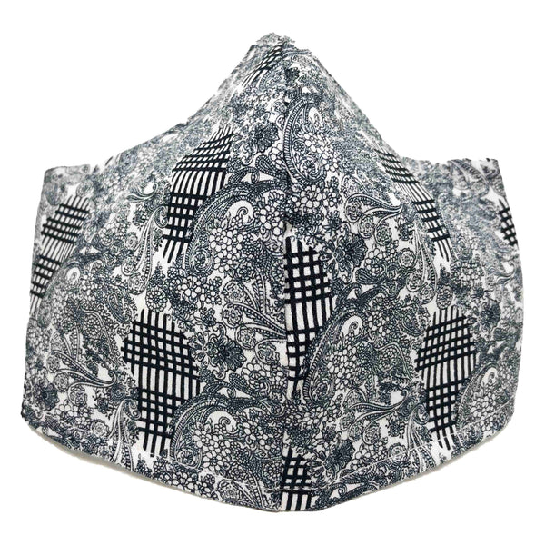 100% Cotton Triple Layer Adjustable Mask with Built-In Nose Wire & Filter Pocket - Escada