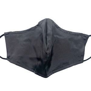 Triple Layer 100% Silk Satin Mask with Filter Pocket - Solid Grey