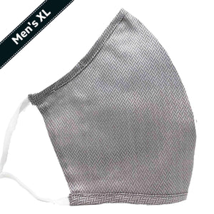 Men's XLarge 100% Cotton Triple Layer Adjustable Mask with Built-In Nose Wire & Filter Pocket - Braden