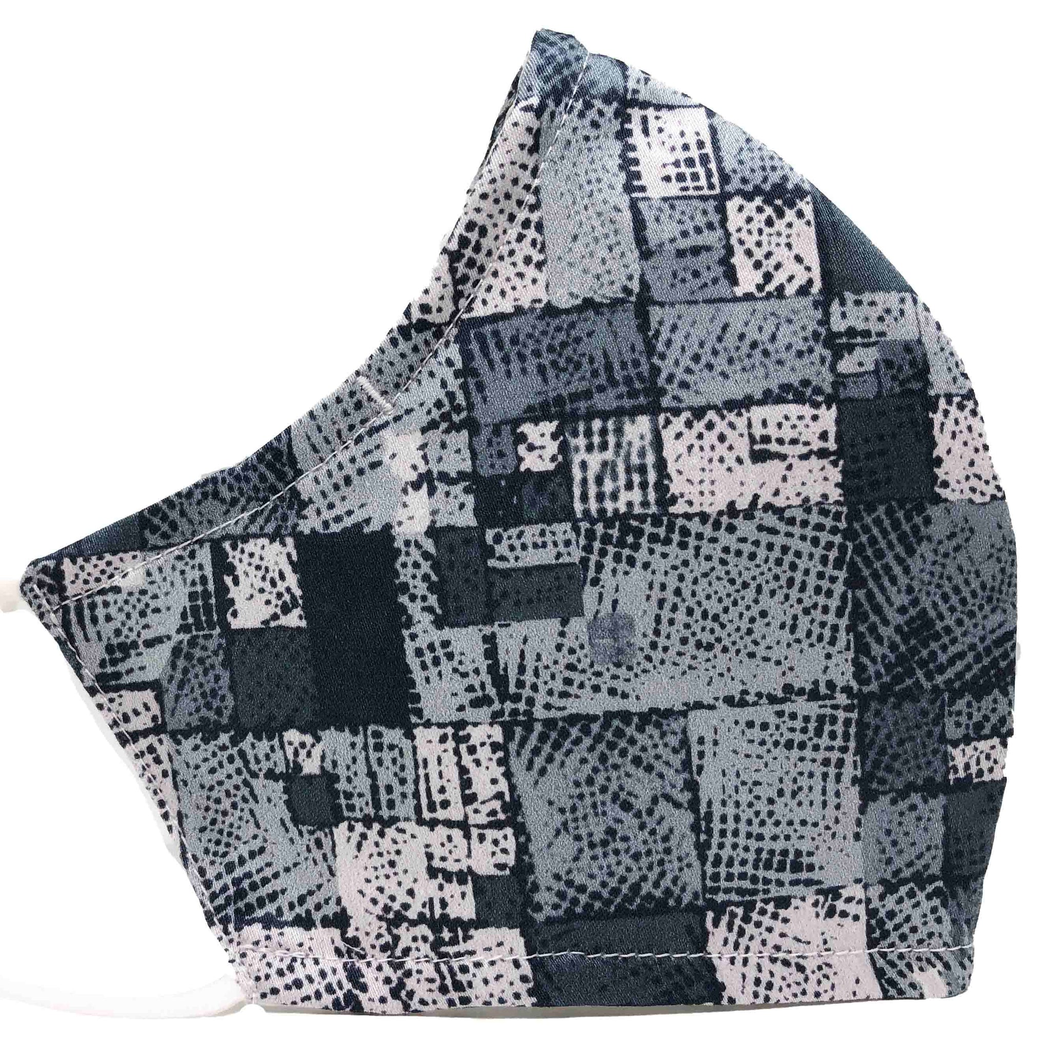 100% Cotton Triple Layer Adjustable Mask with Built-In Nose Wire & Filter Pocket - Cityscape