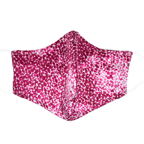 Triple Layer 100% Silk Satin Mask with Filter Pocket - Pink Panther