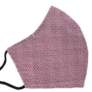 100% Cotton Triple Layer Adjustable Mask with Built-In Nose Wire & Filter Pocket - Arlene