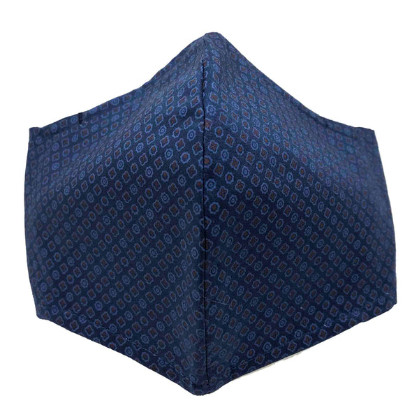 100% Cotton Triple Layer Adjustable Mask with Built-In Nose Wire & Filter Pocket - Oakley