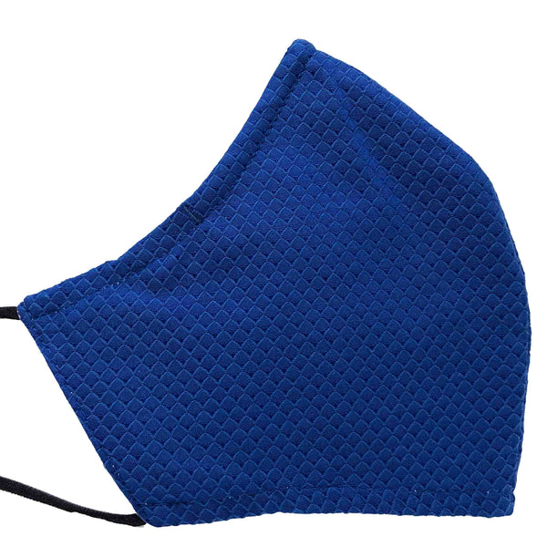 100% Cotton Triple Layer Adjustable Mask with Built-In Nose Wire & Filter Pocket - Amari