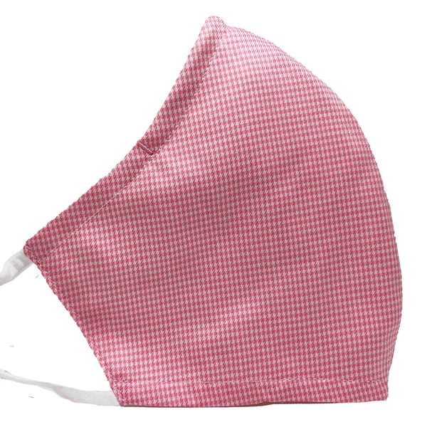 100% Cotton Triple Layer Adjustable Mask with Built-In Nose Wire & Filter Pocket - Grapefruit