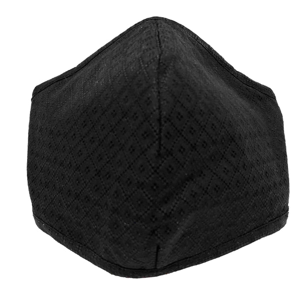 Men's 100% Cotton Triple Layer Adjustable Mask with Built-In Nose Wire & Filter Pocket - Lawrence