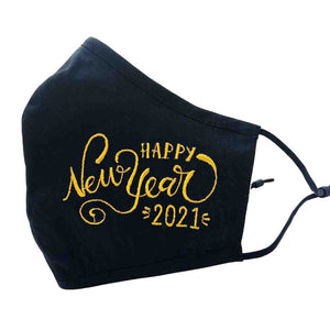 Limited Edition Golden Embroidered NEW YEARS Keepsake Mask