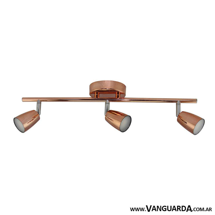 Aplique de Pared Metalico Pasiaca Cobre 3 Luces
