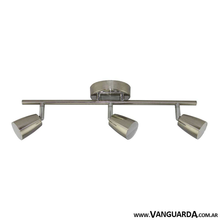 Aplique de Pared Metalico Pasiaca Niquel 3 Luces