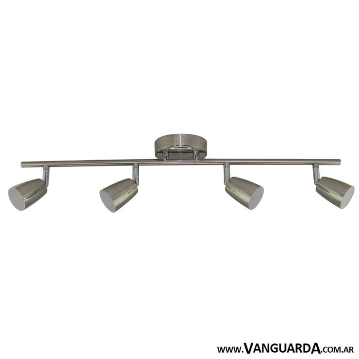 Aplique de Pared Metalico Pasiaca Niqeul 4 Luces