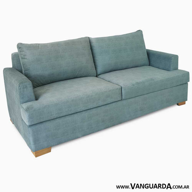 sillon para living 2 cuerpos Gerome 200 pana tequila agua lateral