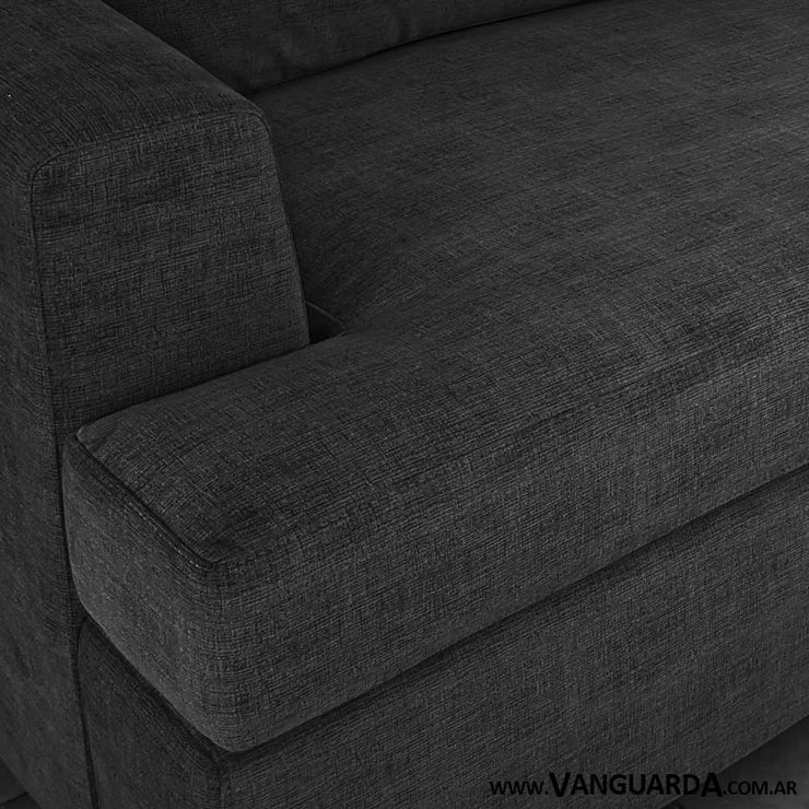 sofa para living pequeno Gerome 200 pana tequila petroleo