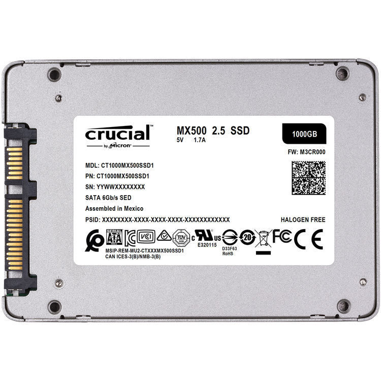 "Crucial 1TB MX500 2.5"" Internal SSD"