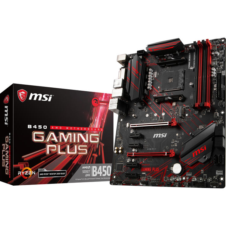 MSI B450-A Gaming Plus AM4 ATX Motherboard