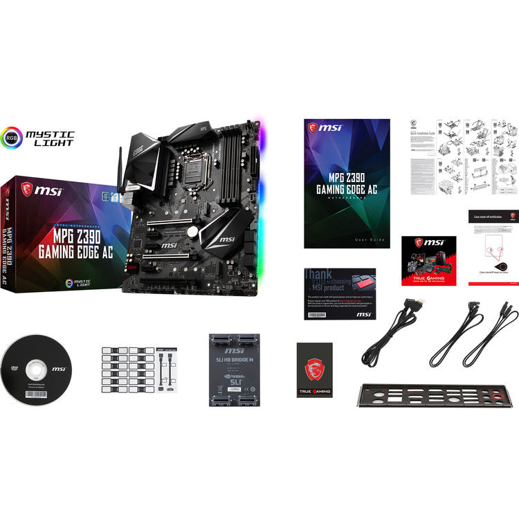 MSI MPG Z390 GAMING EDGE AC LGA 1151 ATX Motherboard