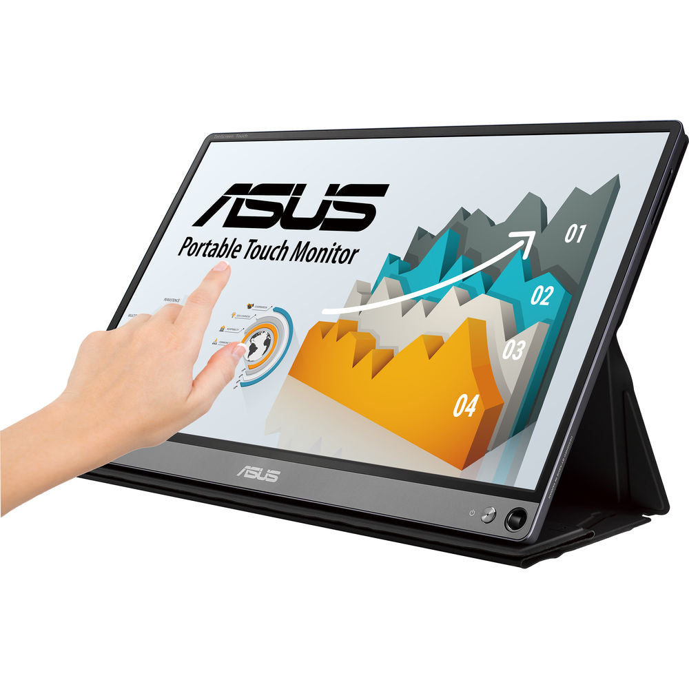 "ASUS ZenScreen Touch MB16AMT 15.6"" 16:9 Multi-Touch IPS Monitor"