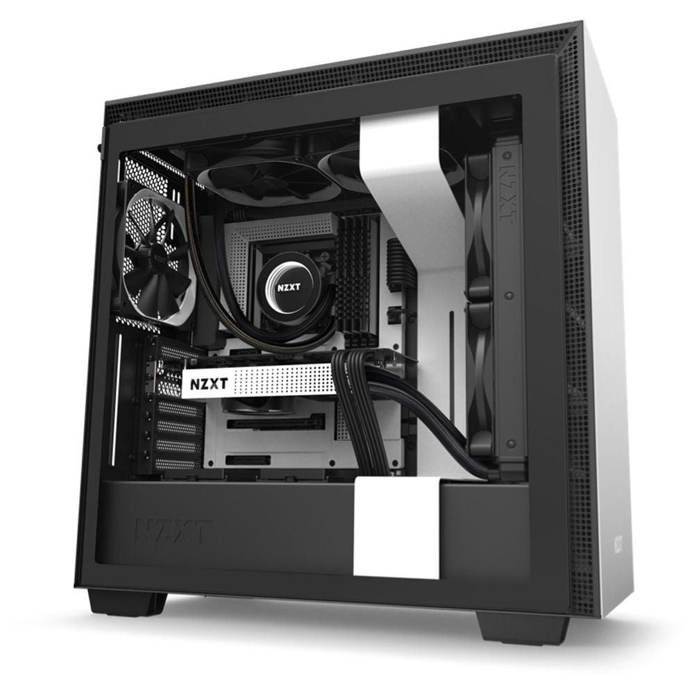 NZXT H710 Mid-Tower Case (Matte White)