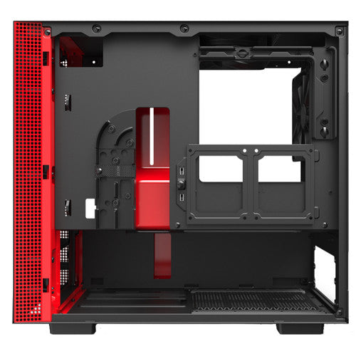 NZXT H210 Mini-Tower Case (Matte Black/Red)