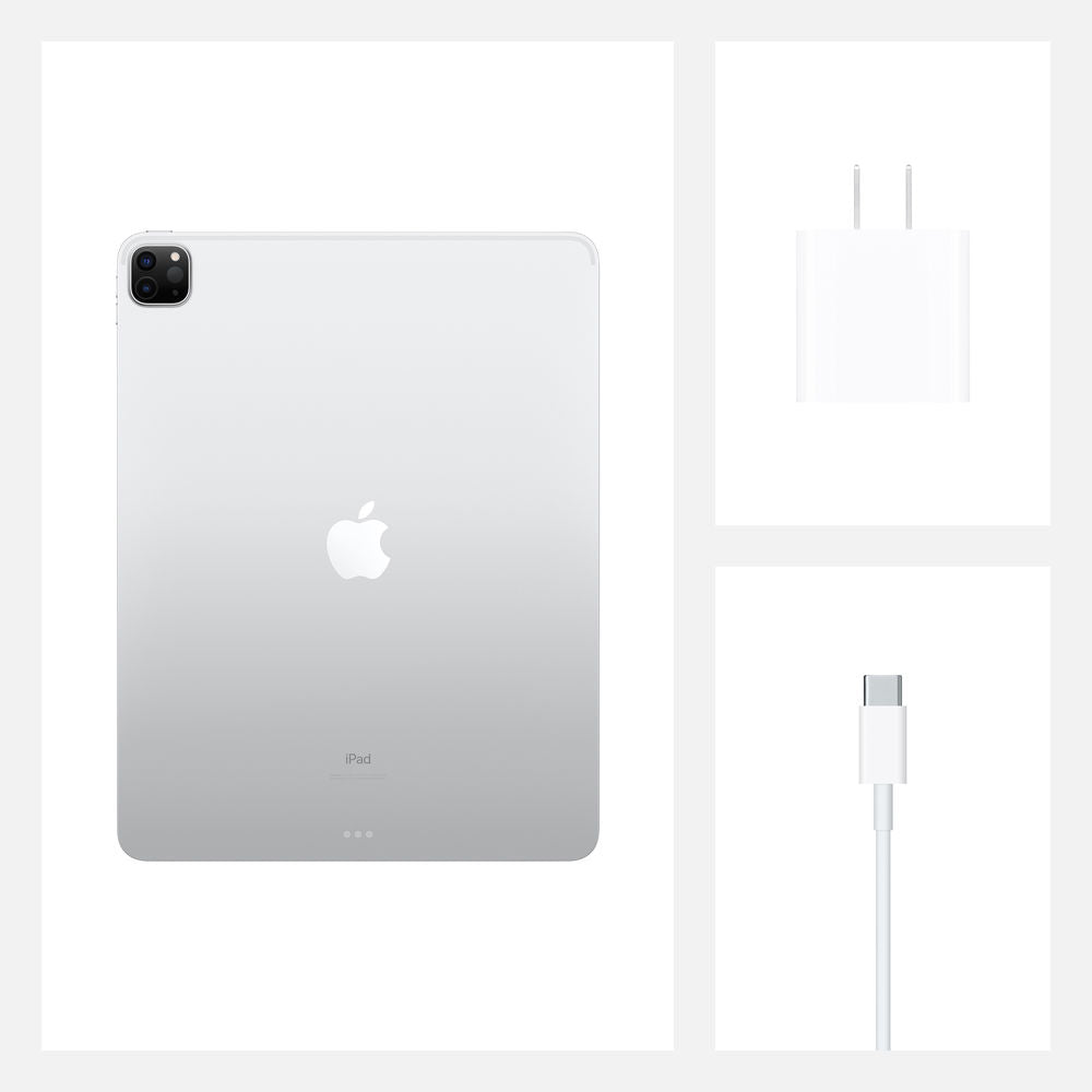 "Apple 12.9"" iPad Pro (Early 2020, 1TB, Wi-Fi + 4G LTE, Silver)"
