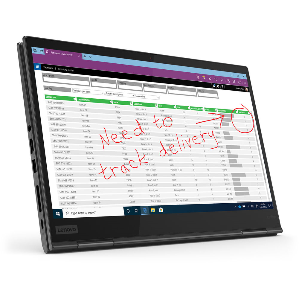 "Lenovo 14"" ThinkPad X1 Yoga Multi-Touch Laptop (5th Gen)"