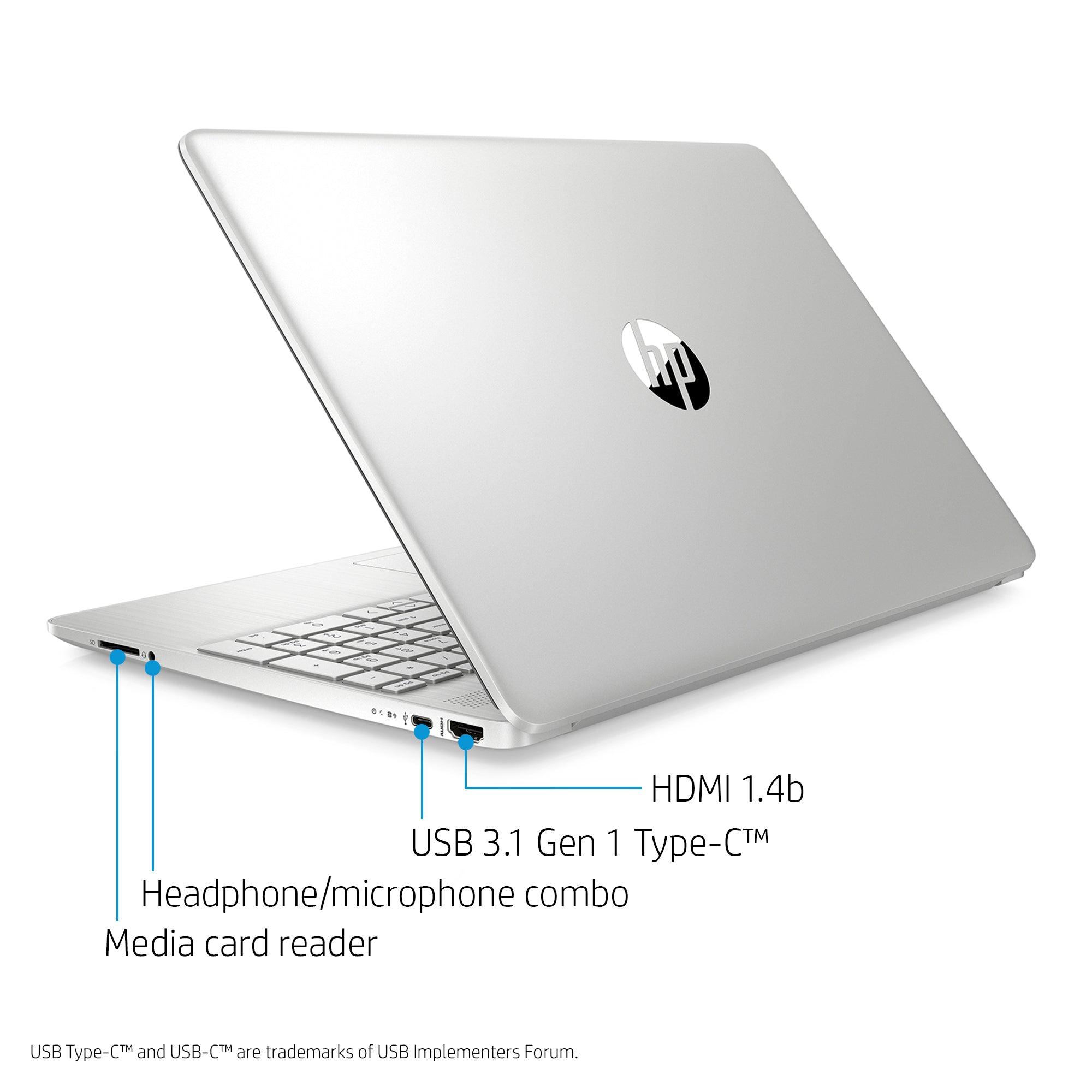 "HP 15.6"" i3 Touch 8GB/256GB Laptop-Silver"