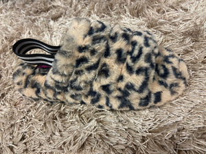 Leopard Furry Sandals