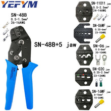 Load image into Gallery viewer, Crimping pliers set SN-48B SN-48BS 8 jaw kit for 2.8 4.8 6.3 VH2.54 3.96 2510/tube/insulation terminals electrical clamp tools
