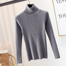 Load image into Gallery viewer, GUMPRUN Winter Women Knitted Turtleneck Sweater 2019 Fall Casual Slim Sweaters Pullover Womens Long Sleeve Elasticity Sweater
