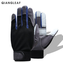 Load image into Gallery viewer, QIANGLEAF Brand Work Gloves Black White Stitching Safety Protection Wear Glove Hiking Bicycle Bike Cycling Winter Gloves 2710